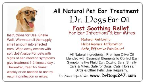 All Natural Dog Ear Treatment from DrDogs247.com